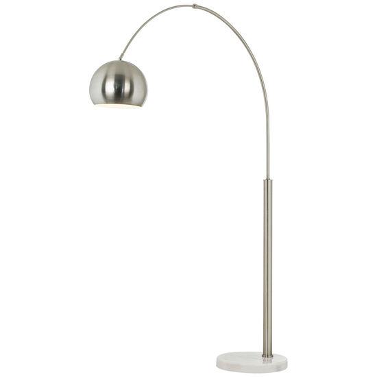 Basque Nickel Arc Floor Lamp