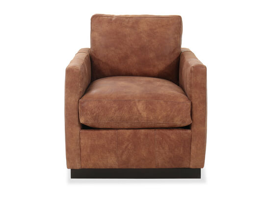 Contemporary Swivel Chair in Dark Brown