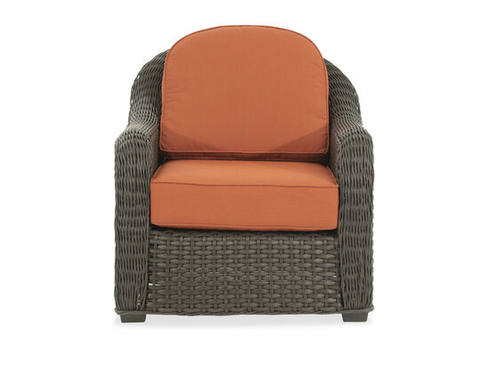 Woven Aluminum Club Chair in Orange