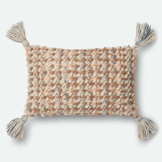 """Contemporary 13""""x21"""" Cover w/Poly Pillow in Multi"""