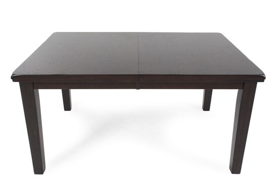 "60"" to 78"" Rectangular Dining Table with Butterfly Leaf in Dark Brown"
