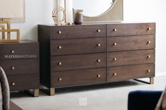 37'' Eight-Drawer Modern Dresser in Barton