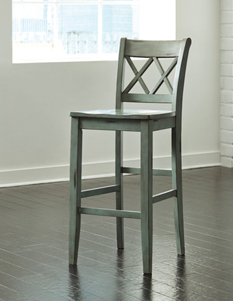"""Casual 45"""" X-Back Bar Stool in Green"""