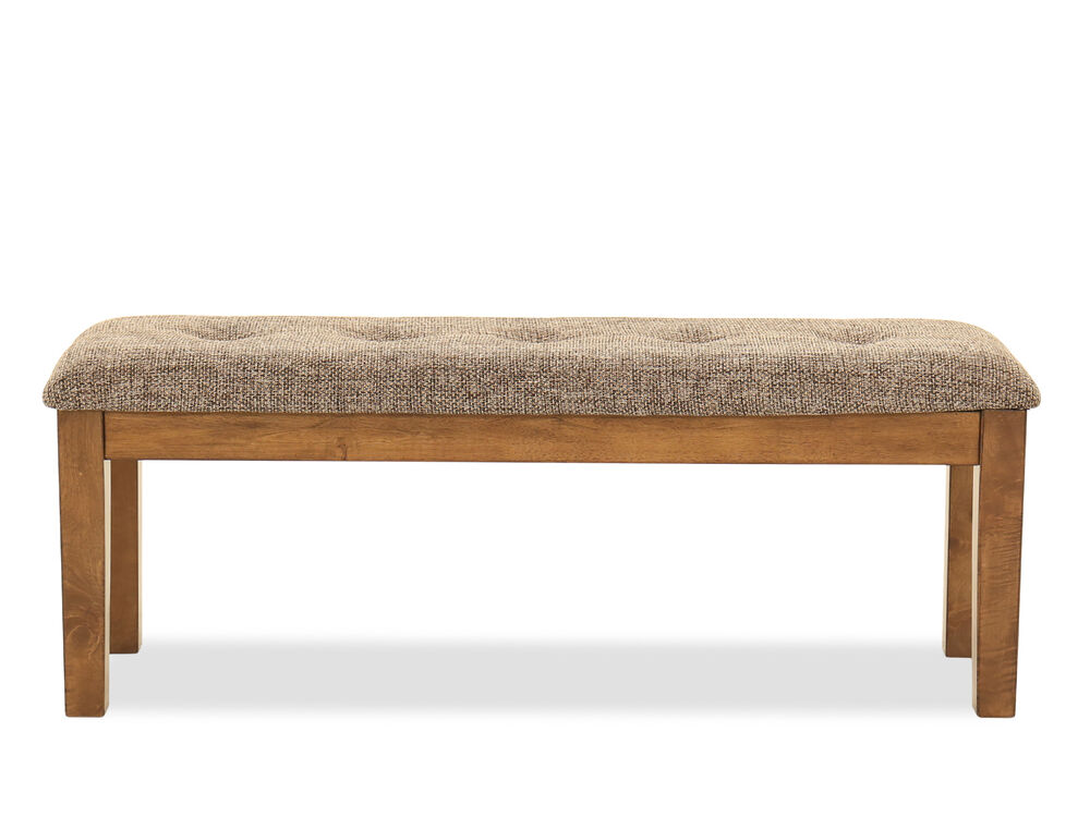 "19"" Casual Large Dining Bench in Light Brown"
