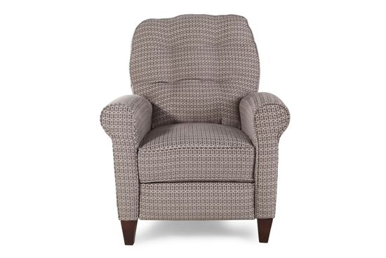 "Chainlink-Patterned 33"" Wall Saver Recliner in Gray"