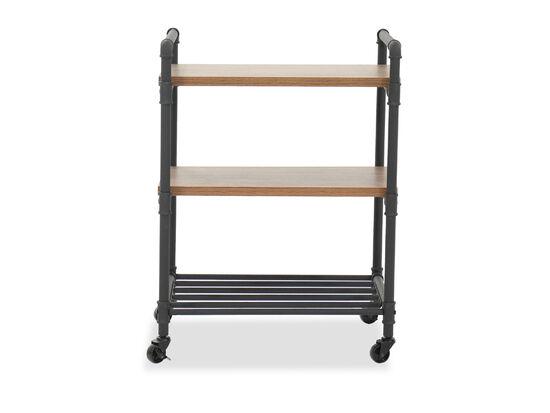 "Industrial 32"" Multi-Purpose Cart in Checked Oak"