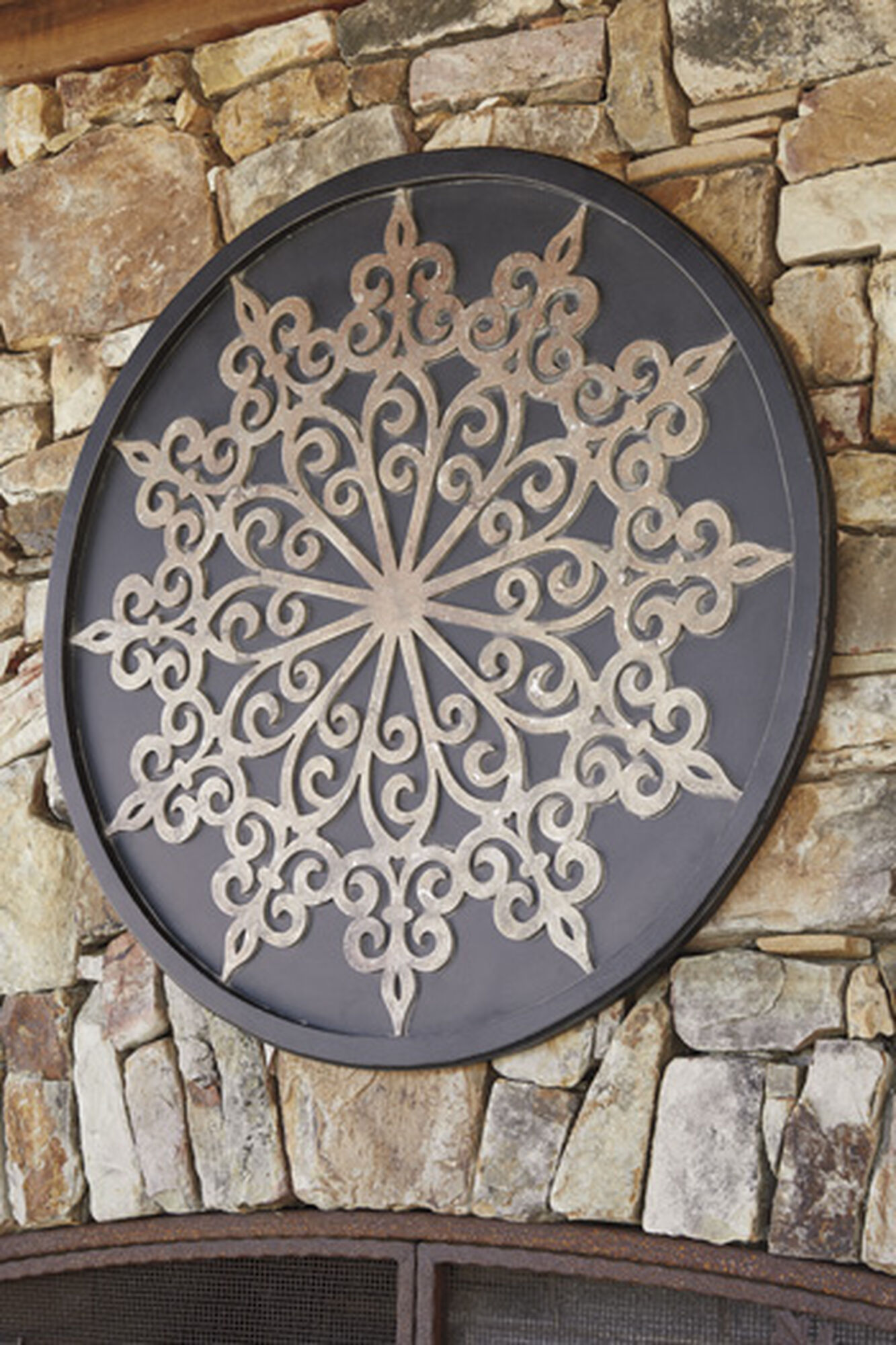 Free Shipping Sites >> Traditional Medallion Carved Wall Decor in Black | Mathis Brothers Furniture