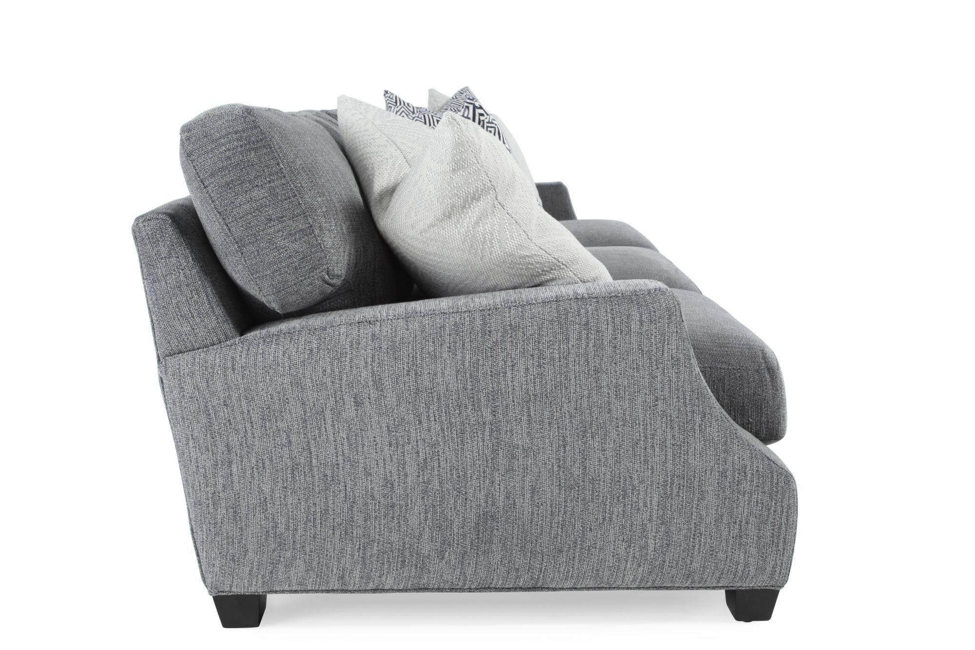 Contemporary 43u0026quot; Sofa In Gray