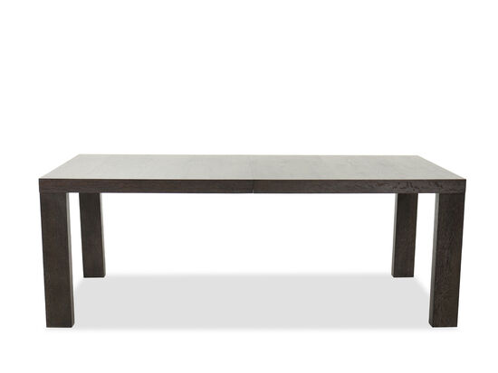 """Transitional Rectangular Extension 82"""" to 106"""" Dining Table in Flaky Oak"""