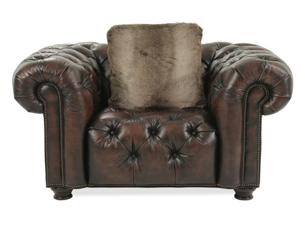 On Tufted 57 5 Chair And A Half In Mathis Brothers Furniture