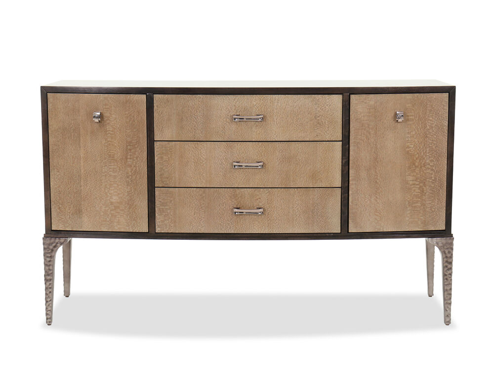 "Transitional 77.5"" Sideboard in Brown"