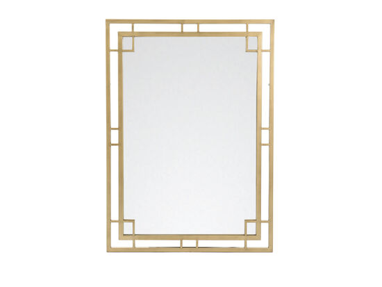 "38"" Traditional Rectangular Mirror in Bronze"