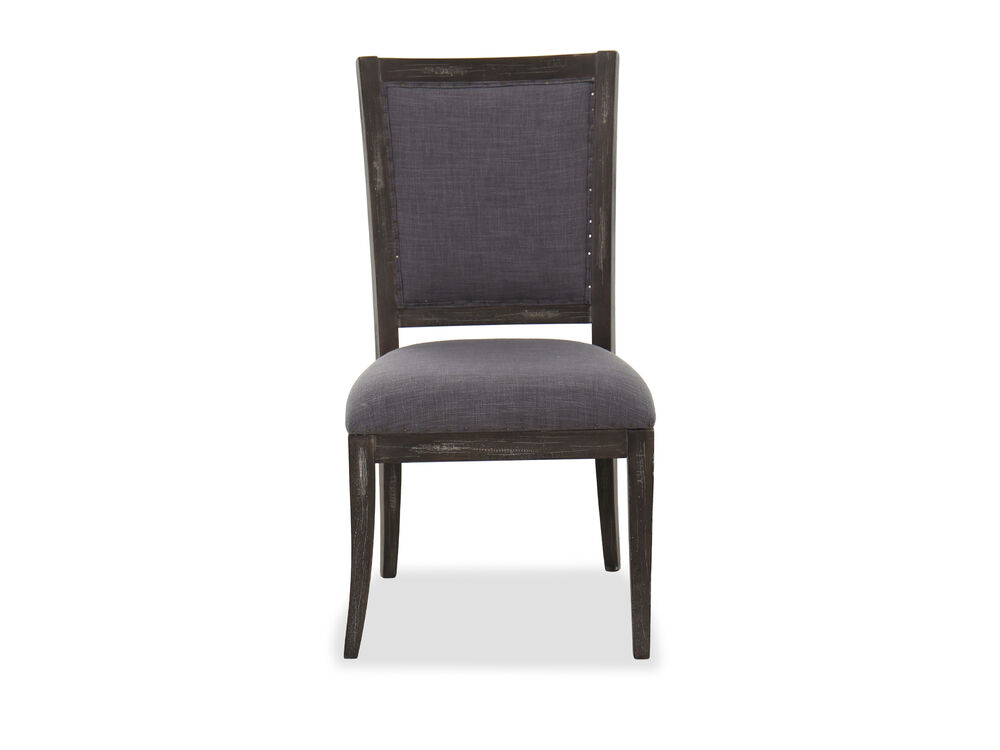 """41"""" Traditional Side Chair in Charcoal Gray"""