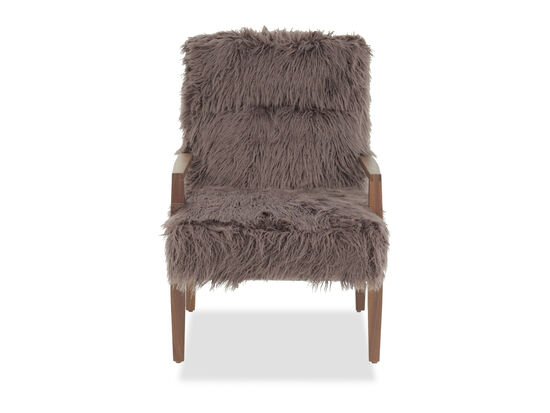 """Contemporary 25"""" Accent Chair in Brown"""