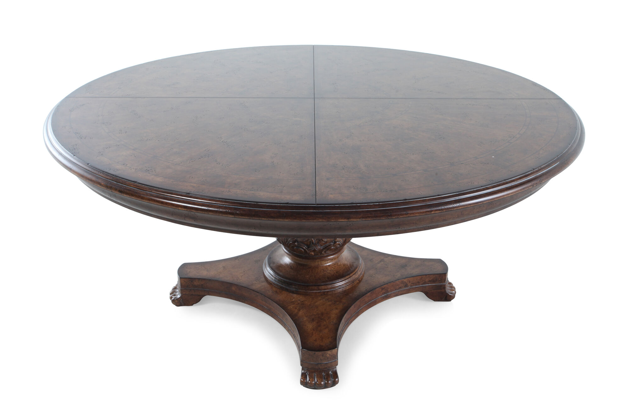Traditional 66 Round Dining Table In Vintage Melange Mathis
