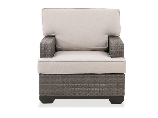 Weather Resistant Wicker Club Chair in Gray