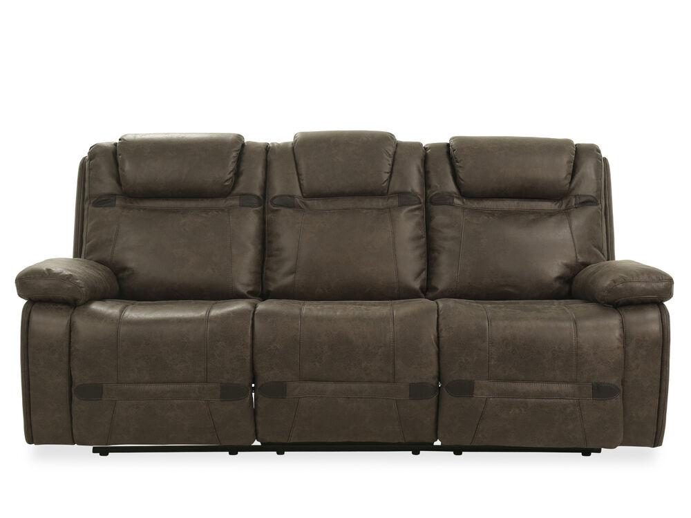 87 5 Quot Microfiber Power Reclining Sofa In Grey Mathis