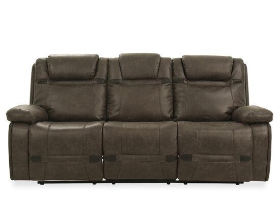 "87.5"" Microfiber Power Reclining Sofa in Grey"