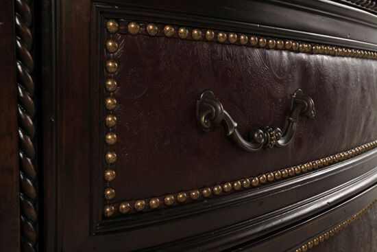 61'' Nailhead-Trimmed Traditional Accent Chest in Port