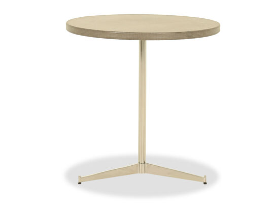 Round Casual Chairside Table in Gold