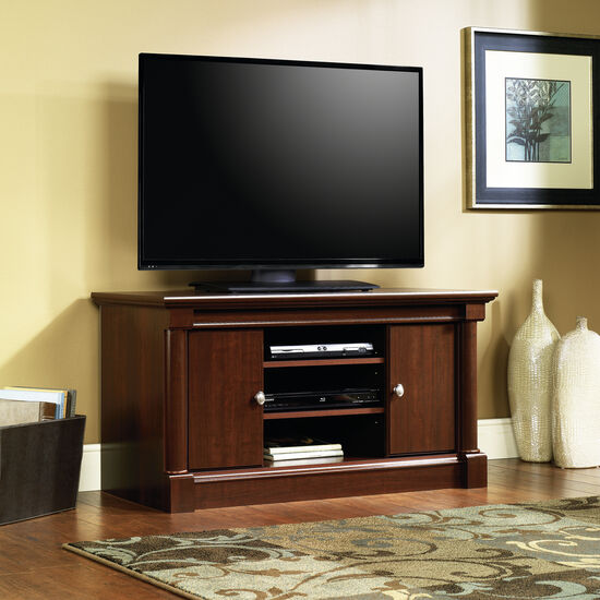 Adjustable Shelf Traditional Panel TV Stand in Cherry