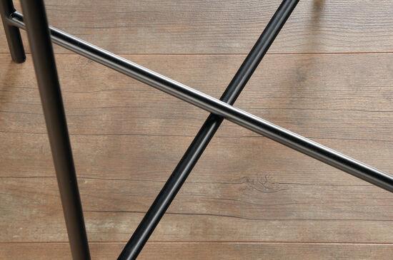 Casual Circular Side Table in Black