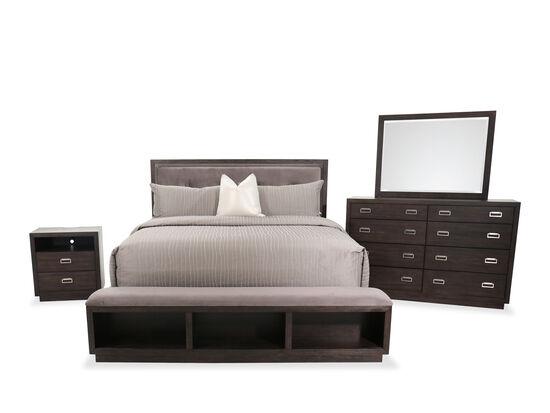 Four-Piece Contemporary King Bedroom Set in Dark Espresso