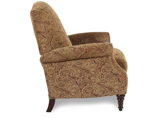 """Traditional Tapestry-Patterned 32"""" High-Leg Recliner"""