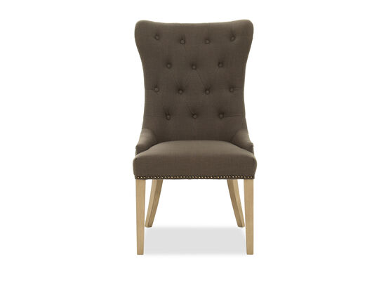 Contemporary Button-Tufted Dining Chair in Gray