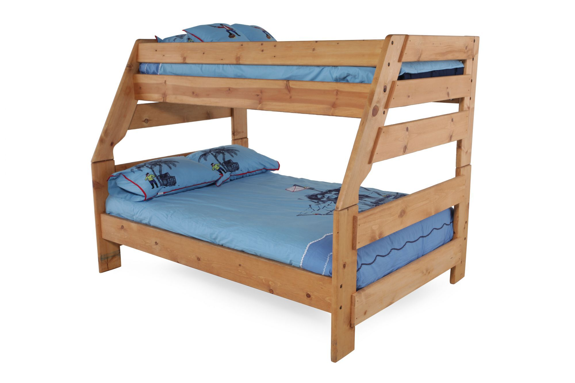 Slatted Youth Twin Over Full Bunk Bed In Cinnamon Mathis