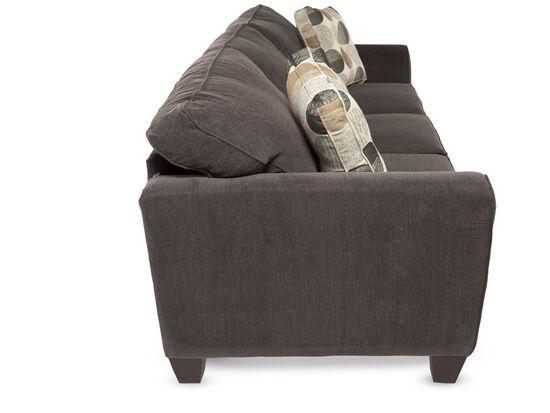 "Microfiber Corduroy 87"" Sofa in Charcoal"