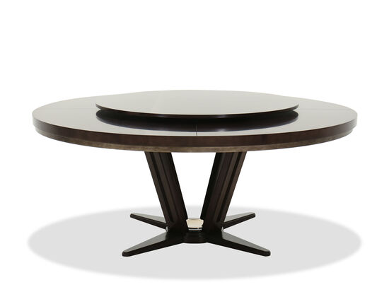 "Contemporary 72"" Round Dining Table in Brown"