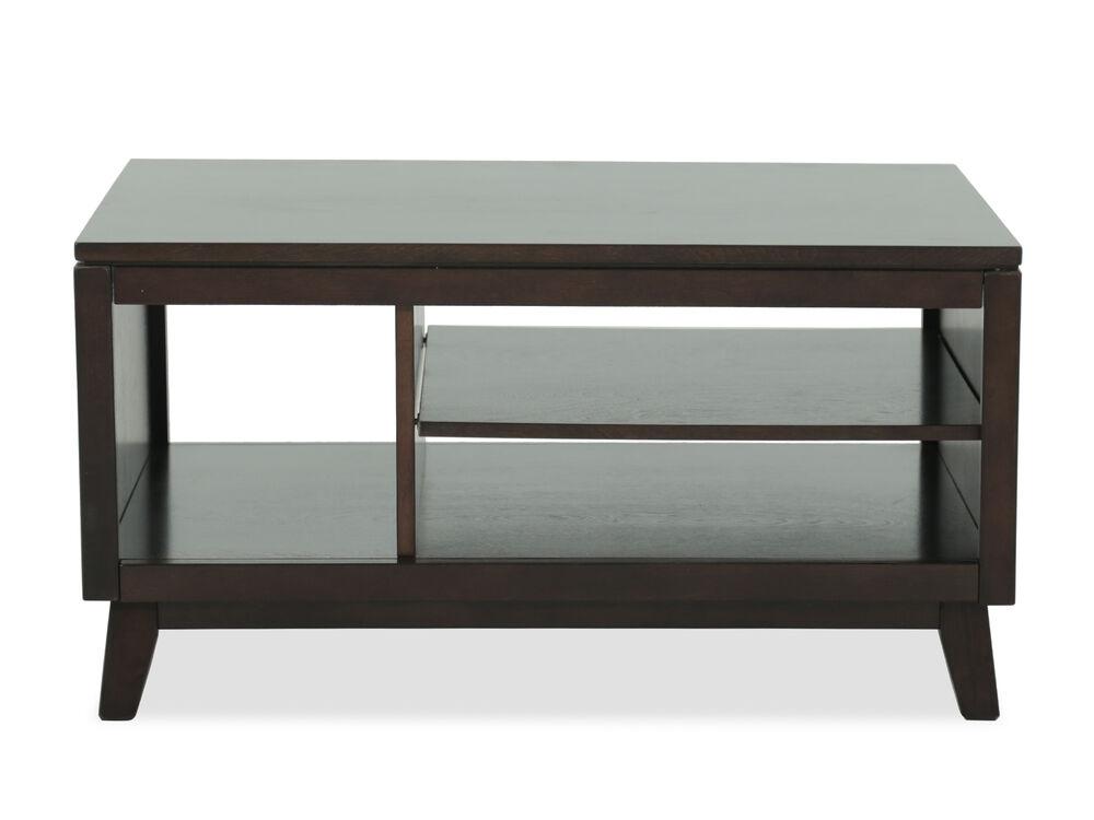 Mid Century Modern Storage Cocktail Table In Dark Brown Mathis