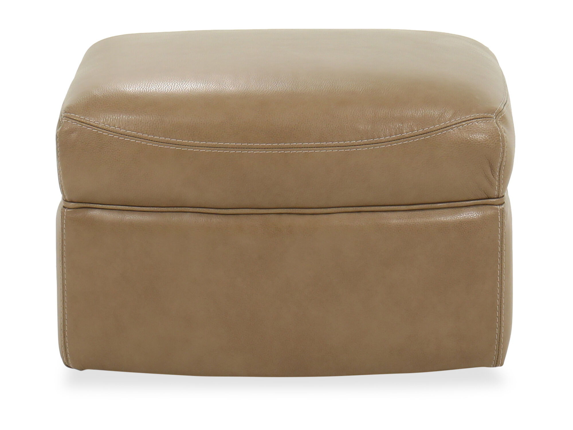 Casual Leather Glider Ottoman In Brown Mathis Brothers
