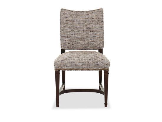 """21"""" Mid-Century Modern Nailhead Accent Side Chair in Dark Brown"""