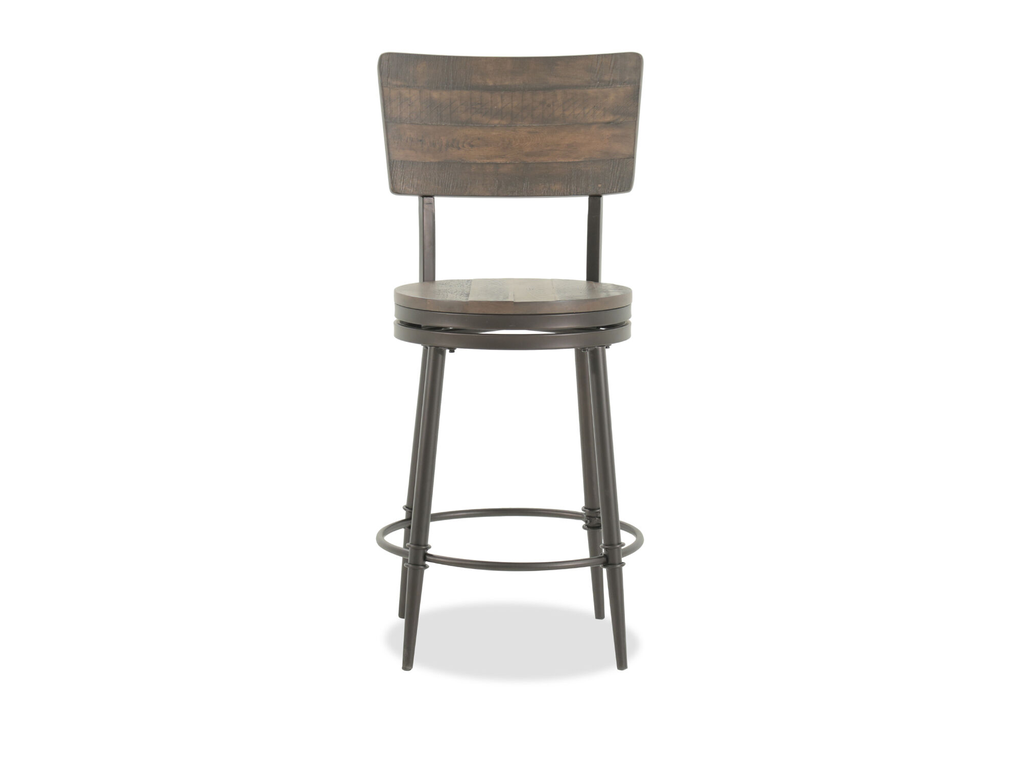 Rustic Farmhouse 42 Quot Swivel Bar Stool In Brown Mathis