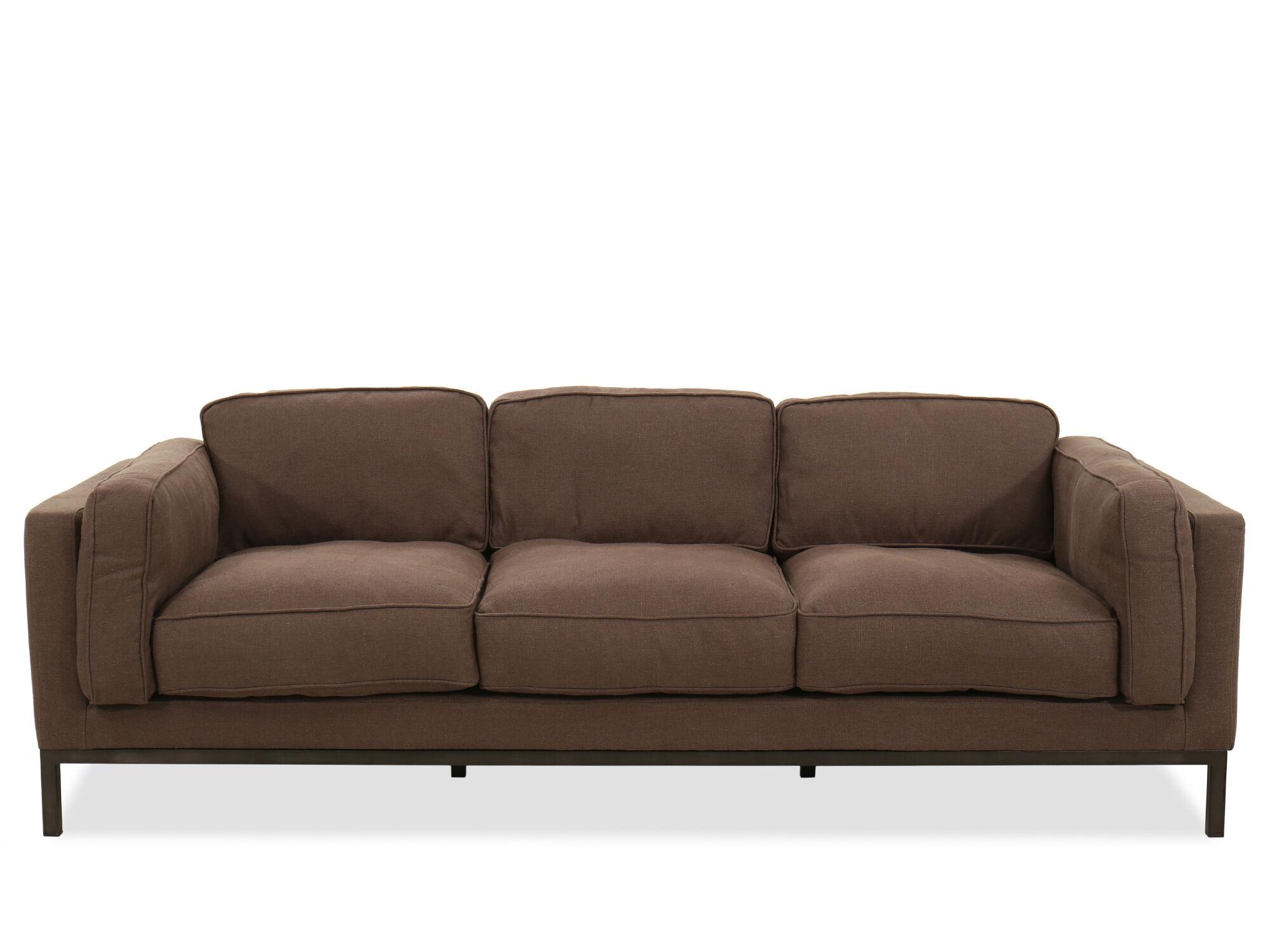 Low Profile Three Seater Sofa In Brown ...