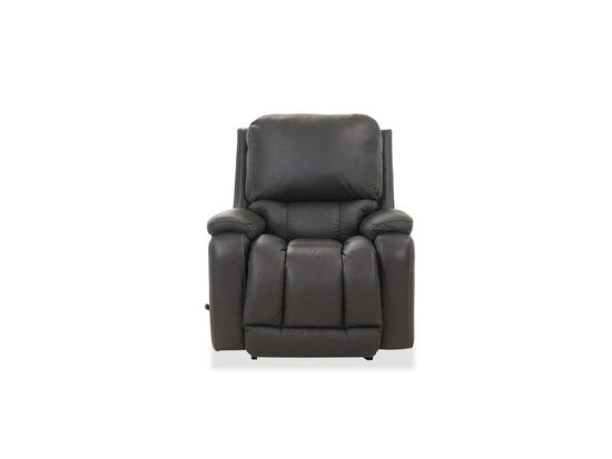 """Leather 38.5"""" Rocker Recliner in Charcoal"""