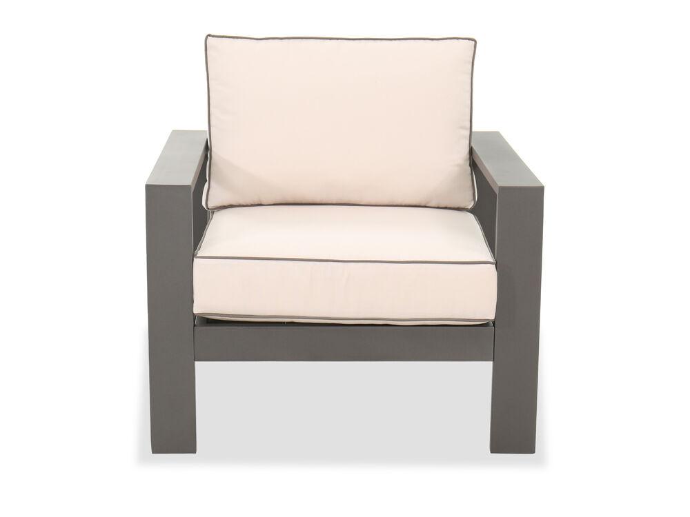 Casual Aluminum Club Chair in Gray