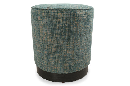Mid Century Modern Round Stool in Teal