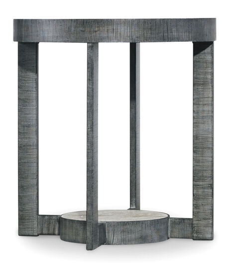 Mill Valley Round End Table in Grey