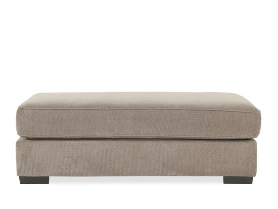 """Contemporary 60"""" Ottoman in Gray"""