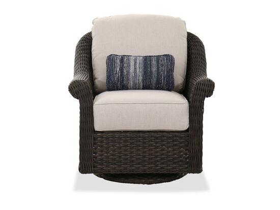 Contemporary Swivel Patio Club Chair in Dark Brown