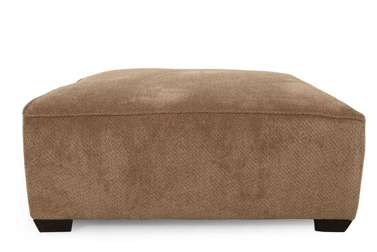 """Textured Traditional 28"""" Cocktail Ottoman in Brown"""