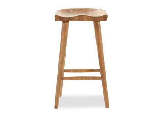 "Traditional 31.5"" Saddle Seat Bar Stool in Blonde"