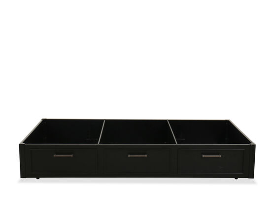 Transitional Youth Trundle Storage Unit in Black