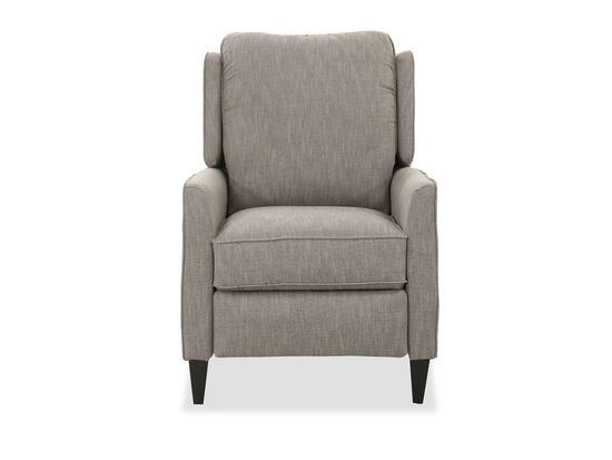 Contemporary Pressback Recliner in Gray