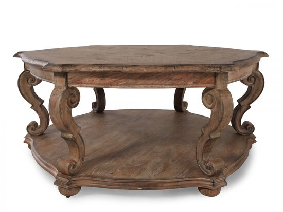 Hexagonal Traditional Cocktail Tablein Brown