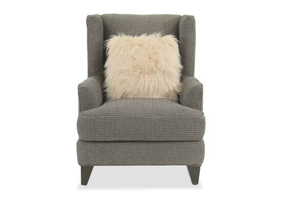 """Textured Contemporary 40"""" Wing Chair in Gray"""