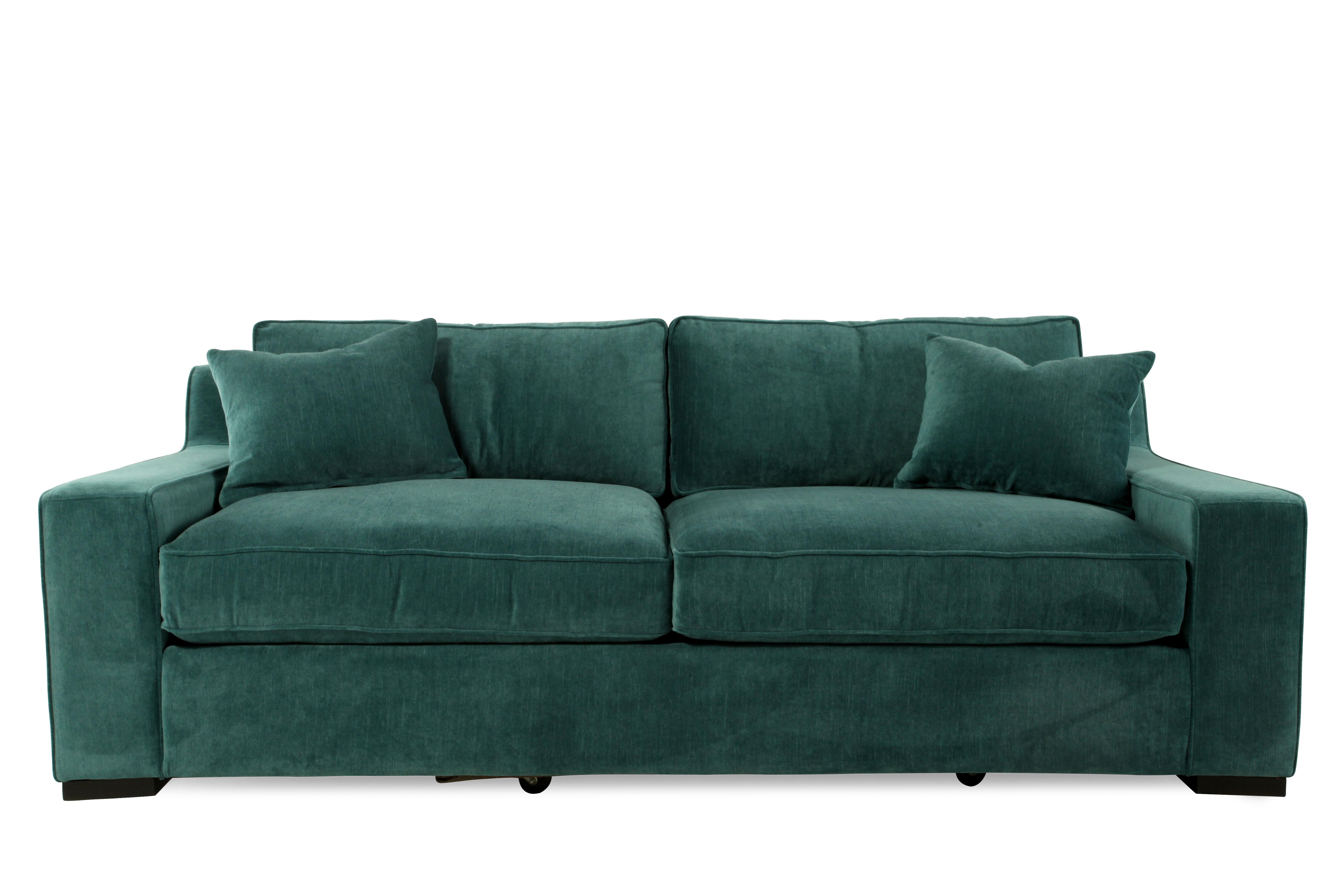 Images Low Profile Microfiber 38u0026quot; Sofa In Emerald Green